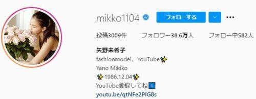 mikko1104 インスタグラムプロフィール